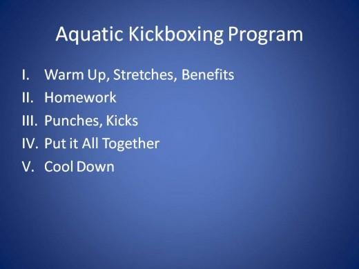Aquatic Kickboxing - photo courtesy of Easy Exercise