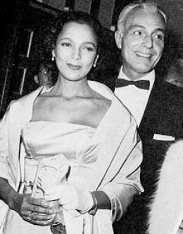 Dandridge with husband, Jack Denison