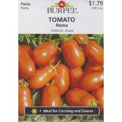 Burpee Roma Tomato Seeds - 500 mg