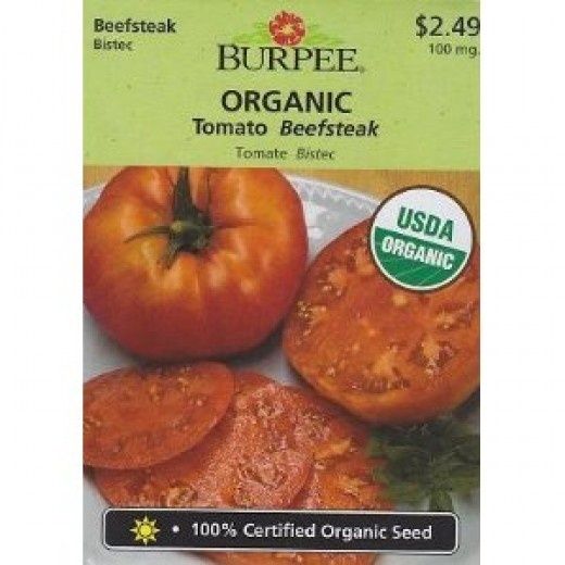 Burpee Organic Beefsteak Tomato Seeds - 100 mg