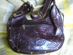 Decorating Vintage Tooled Leather Handbags