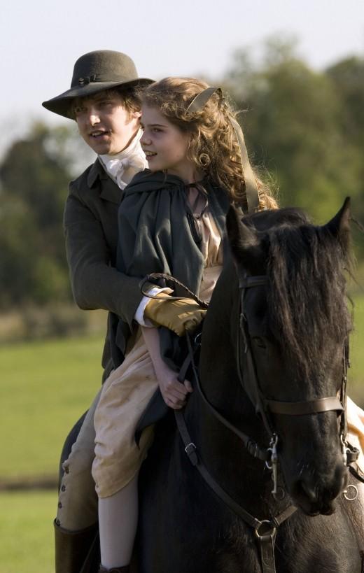 Edward takes Margaret out riding