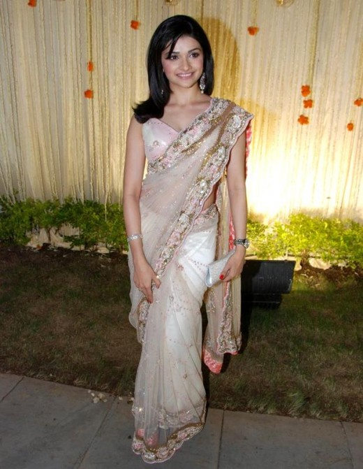 Film and television actress Prachi Desai.