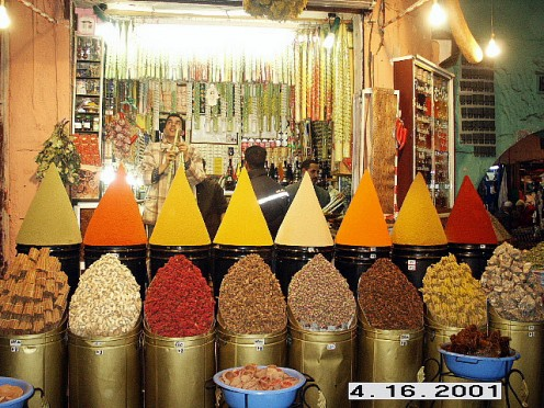 Spices Stand at Marrakesh Market