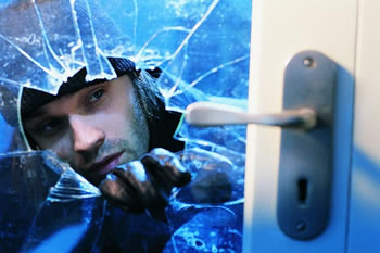 Experienced burglars can steal valuable items quickly while leaving behind a huge amount of costly damage.