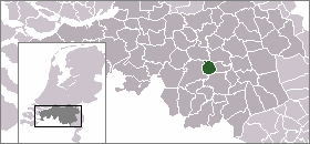 Map location of Best, in The Netherlands