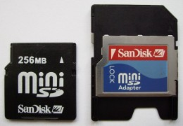Mini SD card with adapter