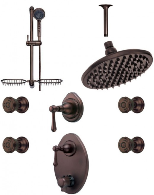 Danze oil rubbed bronze shower system - Custom Shower