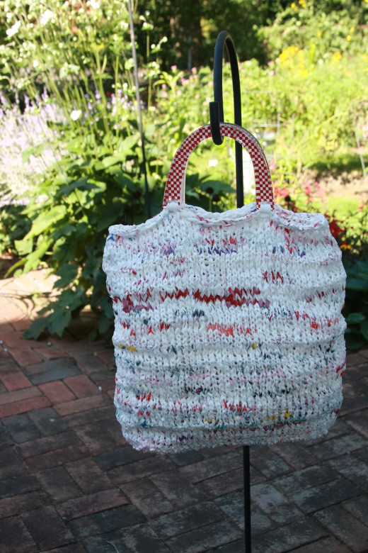 Tote or Knitting Bag with Handles