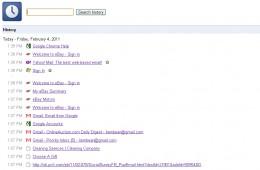 Chrome History Page