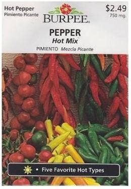 Burpee Hot Mix Pepper - 100 Seeds