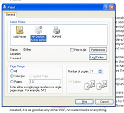 Create PDF file easily from any document