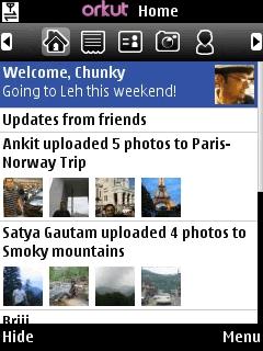 Orkut Mobile Application