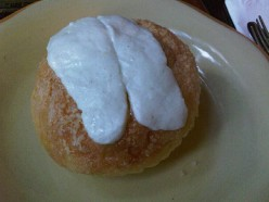 Ensaimada with kesong puti (white cheese) from Mary Grace