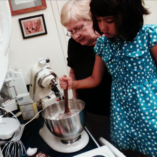 Cooking brings generations together.