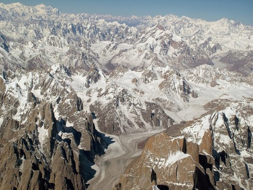 The Karakoram Range and its Glacier System