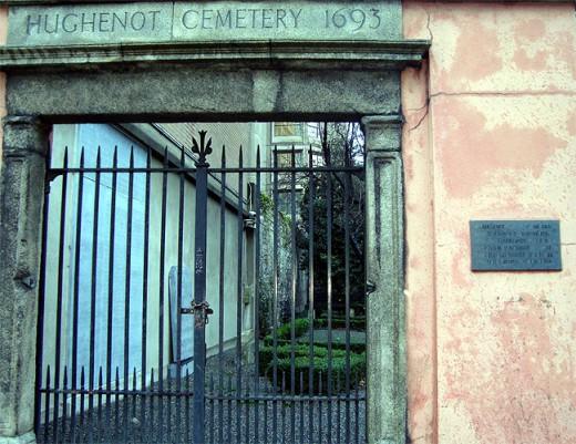 Huguenot Cemetery Entrance