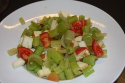 Celery tomato and apple