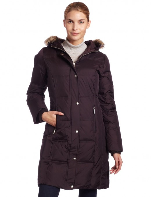 Michael Kors Womens 3/4 Length Down Coat