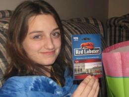 Red Lobster gift card- Ellies favorite restaurant
