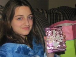 Perfect gift for a tween. A visa card so Ellie can shop anywhere. This way mom wont pick out a outfit she wont wear.