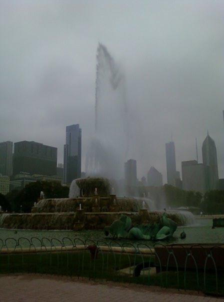 Buckingham Fountain, Grant Park, Downtown Chicago, Illinois