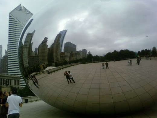 """The Bean,"" Millennium Park, Downtown Chicago, Illinois"