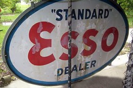 Porcelain Esso signs are highly collectible