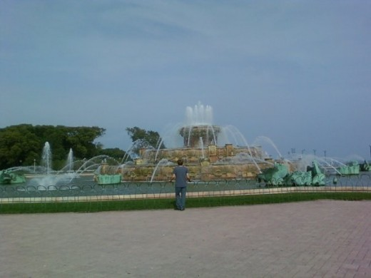 Buckingham Fountain, Grant Park, Downtown Chicago, Illinois