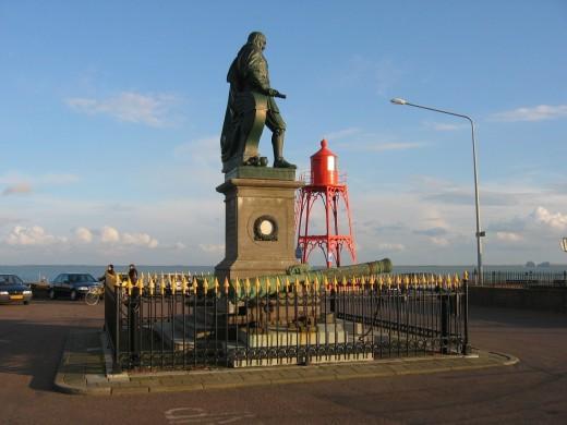 Statue of Admiral de Ruyter at Vlissingen