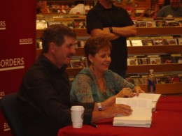 Joyce and her husband Dave at a book signing