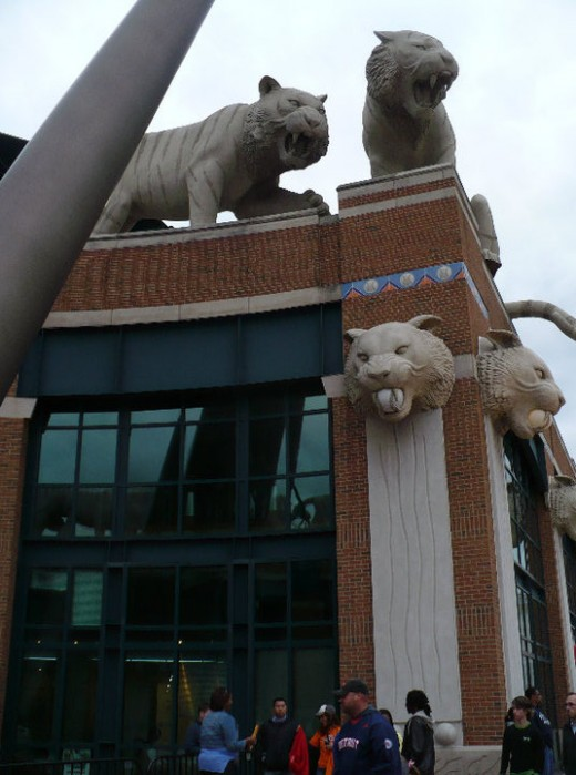 Outside Comerica Park, Downtown Detroit, Michigan