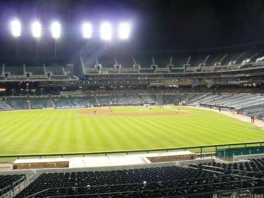After the Detroit Tigers/ Chicago White Sox baseball game; Comerica Park, Downtown Detroit, Michigan