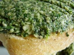 Nettle Pesto on bread