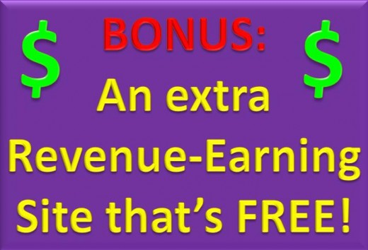Bonus: An exra Revenue-Earning Site that's free