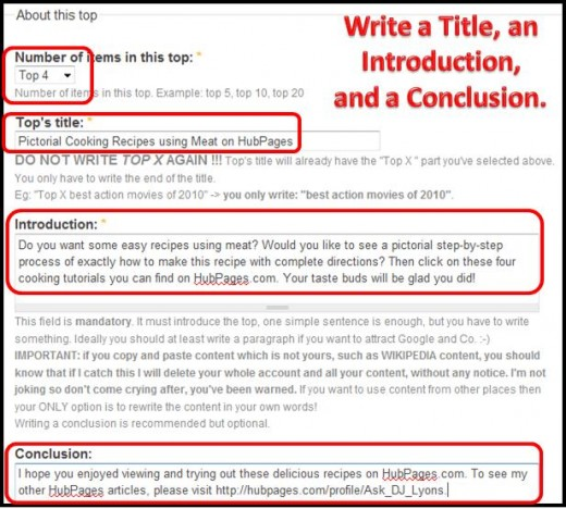 Step 10 - Write a title, an introduction, and a conclusion