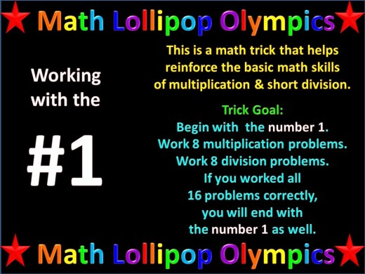 Math Lollipop Olympics Work with #1