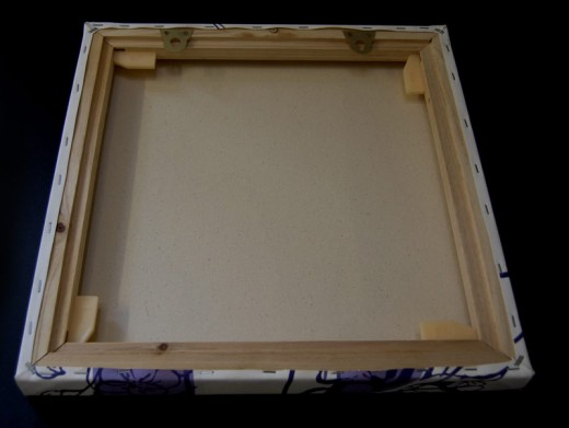 Canvas With Mirror Plates Mounted On Inside