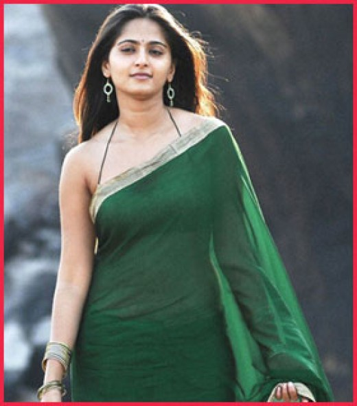 Anushka is a tall, elegant Indian actress.