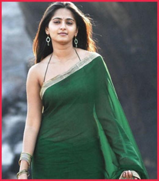 Anushka is a tall, elegant Indian actress.