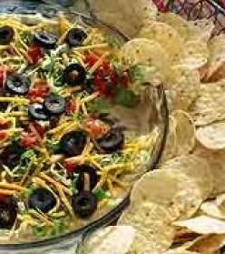 Seven 7 and Five 5 Layer Dip Recipe Easy Low Fat Cheese Option