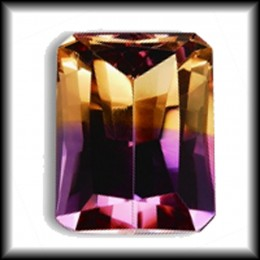 Beautiful ametrine gemstone, half citrine, half amethyst