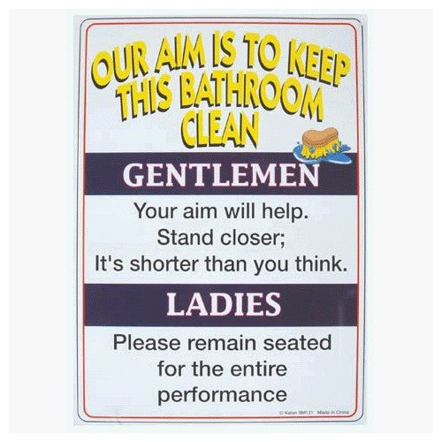 Funny Signs For Bathroom