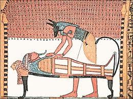 Anubis, seer over embalming process