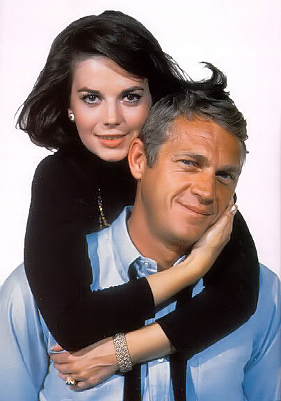 With Natalie Wood. Costars in Love With A Proper Stranger.