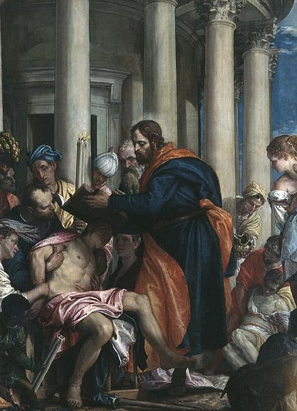 """Barnabas Curing the Poor"" - by Paolo Veronese (1566) - Museum Beaux-Arts - Rouen"