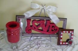 """Valentine's Day Craft Tutorial:  """"Love"""" Mirror"""