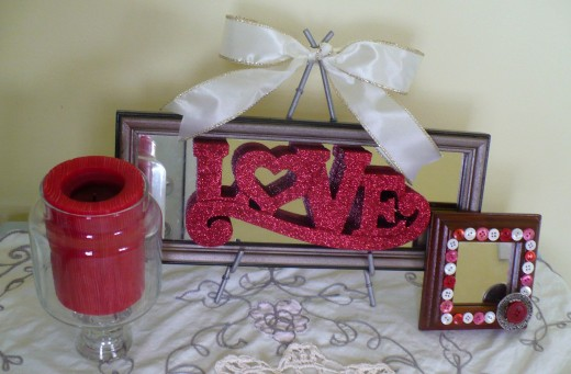 "Valentine's Day Craft Tutorial:  ""Love"" Mirror"