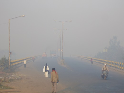 vehicular pollution in chandrapur