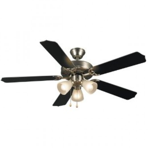 Hardware House 415935 Panama 52-Inch Ceiling Fan Brushed Nickel